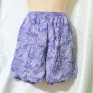 Patagonia Purple Print Lined Running Shorts